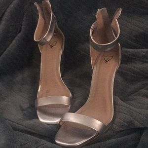 Beautiful Charlotte Russe silver shoes
